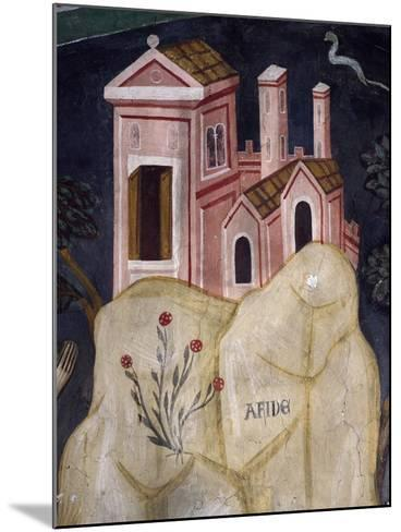Church in Affile, Detail from Stories of Saint Benedict--Mounted Giclee Print