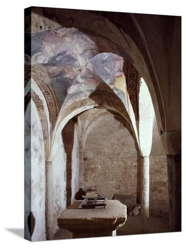11th Century Crypt, Cathedral of Chieri, Italy--Stretched Canvas Print