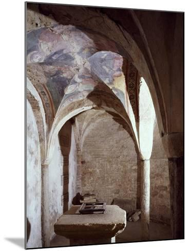 11th Century Crypt, Cathedral of Chieri, Italy--Mounted Giclee Print