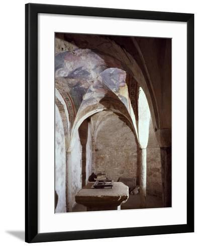 11th Century Crypt, Cathedral of Chieri, Italy--Framed Art Print