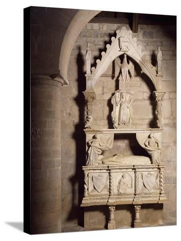 Funeral Monument, Church of Santa Maria Della Strada, Matrice, Molise, Italy--Stretched Canvas Print