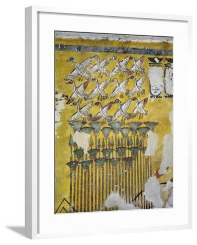 Egypt, Tomb of Ay, Burial Chamber, Eastern Wall, Mural Paintings, Hunting Scene--Framed Art Print