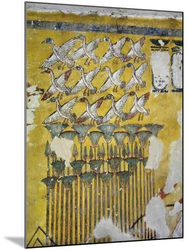 Egypt, Tomb of Ay, Burial Chamber, Eastern Wall, Mural Paintings, Hunting Scene--Mounted Giclee Print