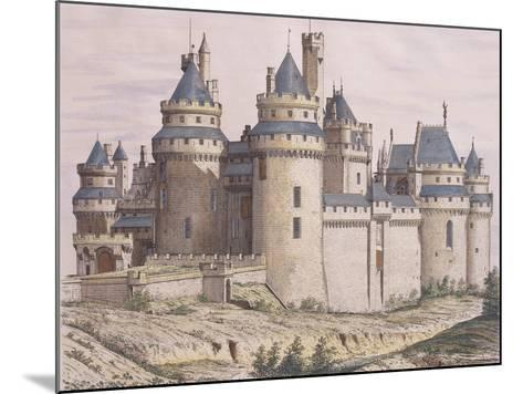 France, Pierrefonds Medieval Castle, Restored by Violet Le Duc from Moniteur Des Architectes, 1882--Mounted Giclee Print