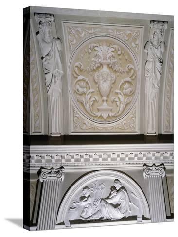 Detail of Interior Stucco Decoration of Villa Durazzo Gropallo or Villa Zerbino--Stretched Canvas Print