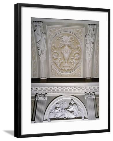 Detail of Interior Stucco Decoration of Villa Durazzo Gropallo or Villa Zerbino--Framed Art Print