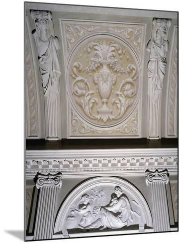 Detail of Interior Stucco Decoration of Villa Durazzo Gropallo or Villa Zerbino--Mounted Giclee Print
