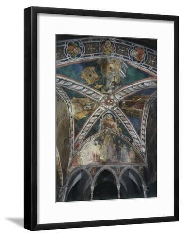 Four Doctors of Church of Vault in Upper Church of Sacro Speco Monastery, Subiaco, Italy--Framed Art Print