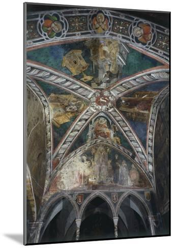 Four Doctors of Church of Vault in Upper Church of Sacro Speco Monastery, Subiaco, Italy--Mounted Giclee Print