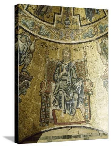 Mosaic of St John Baptist, 13th-14th Century, Vault of Apse, Baptistery of San Giovanni Battista--Stretched Canvas Print