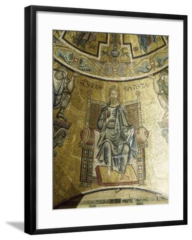 Mosaic of St John Baptist, 13th-14th Century, Vault of Apse, Baptistery of San Giovanni Battista--Framed Art Print