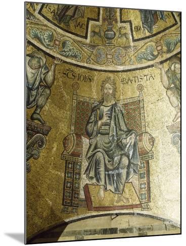 Mosaic of St John Baptist, 13th-14th Century, Vault of Apse, Baptistery of San Giovanni Battista--Mounted Giclee Print
