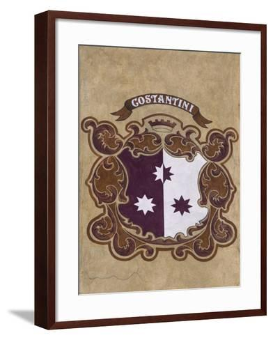 Heraldic Coat of Arms on Facade of Old Town Hall, Cortina D'Ampezzo, Veneto, Italy--Framed Art Print