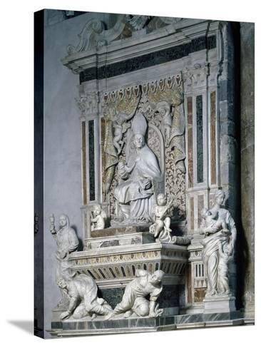 Funeral Monument of Monsignor Pietro Galletti, Catania Cathedral, Sicily, Italy--Stretched Canvas Print