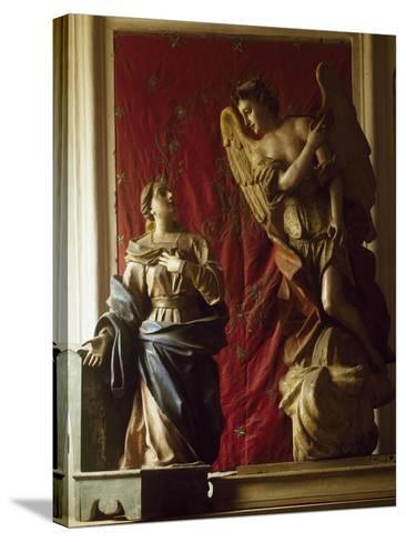 Annunciation, 1565, Polychrome Wooden Group, Church of Santa Maria Dei Lombardi, Novi Velia--Stretched Canvas Print