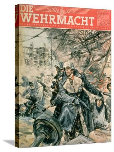 Front Cover of 'Die Wehrmacht', March 1943--Stretched Canvas Print