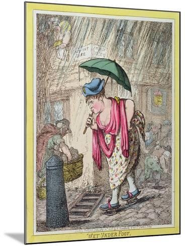 Wet under Foot, Published by Hannah Humphrey in 1812--Mounted Giclee Print
