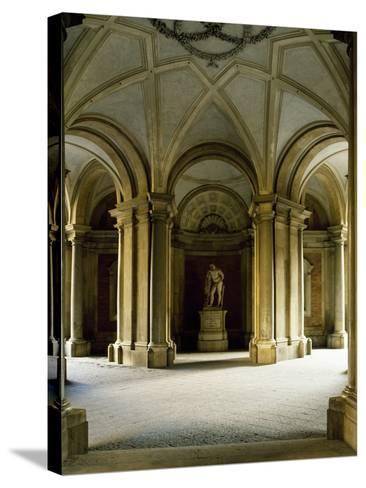 Entrance Hall at Ground Floor, Statue of Hercules, Royal Palace of Caserta--Stretched Canvas Print