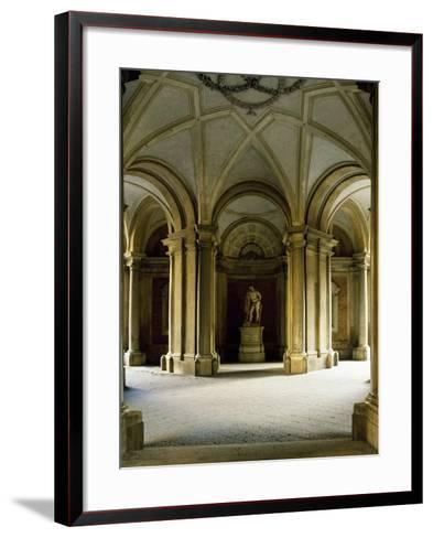 Entrance Hall at Ground Floor, Statue of Hercules, Royal Palace of Caserta--Framed Art Print