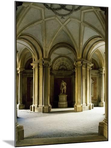 Entrance Hall at Ground Floor, Statue of Hercules, Royal Palace of Caserta--Mounted Photographic Print