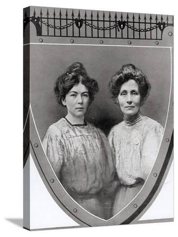 Mrs Emmeline Pankhurst--Stretched Canvas Print