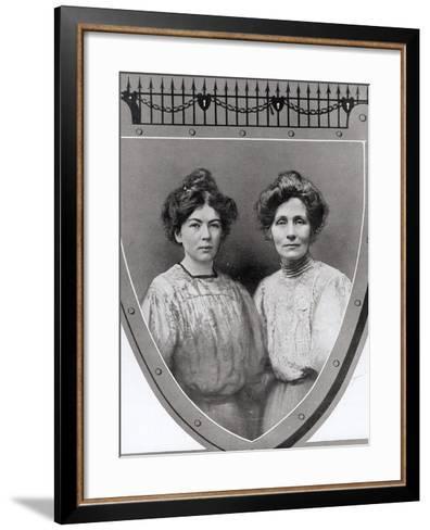 Mrs Emmeline Pankhurst--Framed Art Print