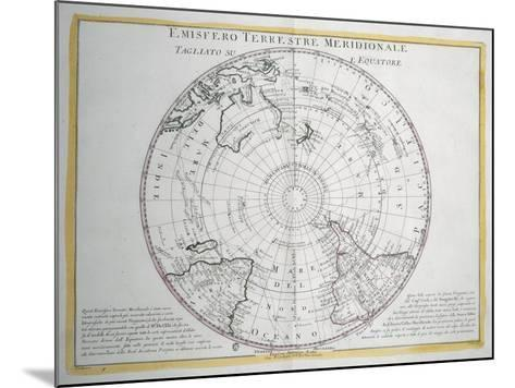 Map of Southern Terrestrial Hemisphere--Mounted Giclee Print