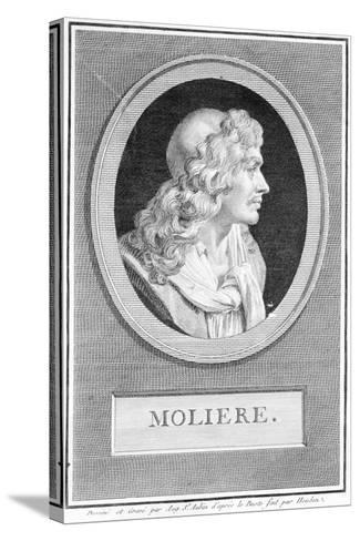 Profile Portrait of Moliere--Stretched Canvas Print