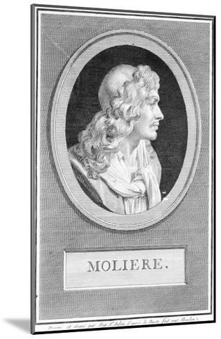 Profile Portrait of Moliere--Mounted Giclee Print