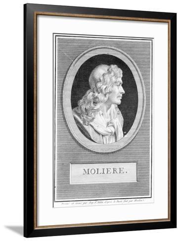 Profile Portrait of Moliere--Framed Art Print