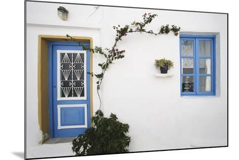 Greece, Cyclades Islands, Paros, Naoussa, Doorway of House-Walter Bibikow-Mounted Photographic Print