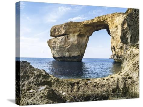 Azure Window, a Natural Arch at the Coast of Gozo, Malta-Martin Zwick-Stretched Canvas Print