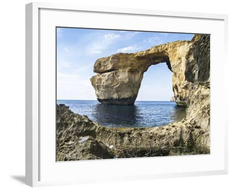 Azure Window, a Natural Arch at the Coast of Gozo, Malta-Martin Zwick-Framed Art Print