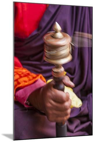 Close Up with a Buddhist and a Hand-Held Prayer Wheel, Bhutan-Gavriel Jecan-Mounted Photographic Print