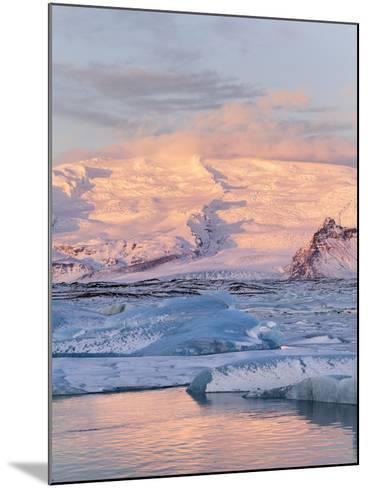 Jokulsarlon with Glacier Breidamerjokull, Vatnajokull NP. Iceland-Martin Zwick-Mounted Photographic Print