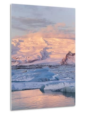 Jokulsarlon with Glacier Breidamerjokull, Vatnajokull NP. Iceland-Martin Zwick-Metal Print