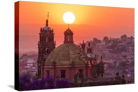 Mexico, San Miguel De Allende. City Overview at Sunset-Jaynes Gallery-Stretched Canvas Print