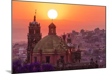 Mexico, San Miguel De Allende. City Overview at Sunset-Jaynes Gallery-Mounted Photographic Print