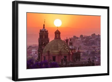 Mexico, San Miguel De Allende. City Overview at Sunset-Jaynes Gallery-Framed Art Print