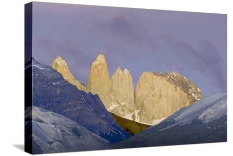 Las Torres before Sunrise. Torres Del Paine NP. Chile-Tom Norring-Stretched Canvas Print