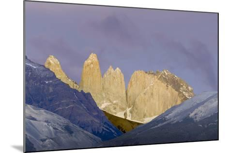 Las Torres before Sunrise. Torres Del Paine NP. Chile-Tom Norring-Mounted Photographic Print