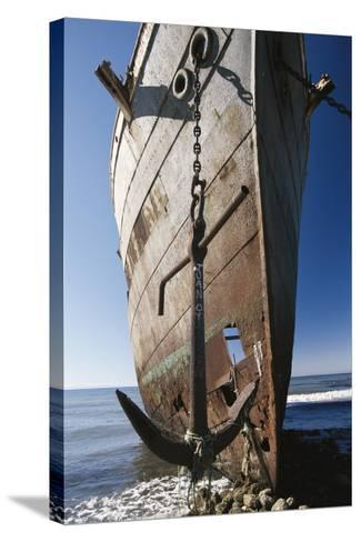 Chile, Punta Arenas, Shipwreck of Lonsdale Port Area-Walter Bibikow-Stretched Canvas Print