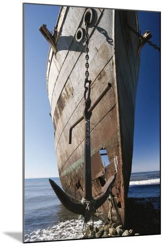 Chile, Punta Arenas, Shipwreck of Lonsdale Port Area-Walter Bibikow-Mounted Photographic Print