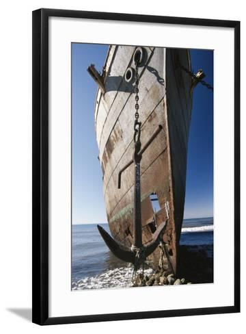 Chile, Punta Arenas, Shipwreck of Lonsdale Port Area-Walter Bibikow-Framed Art Print
