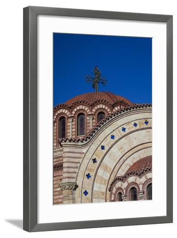 Greece, Central Macedonia, Thessaloniki, Town and Agios Pavlos Church-Walter Bibikow-Framed Art Print