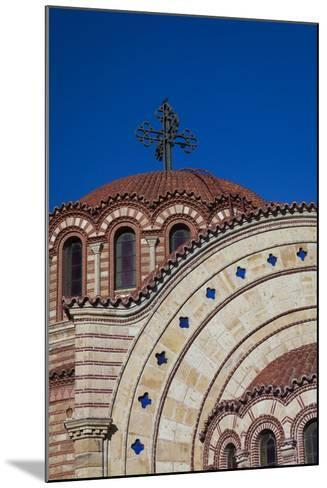Greece, Central Macedonia, Thessaloniki, Town and Agios Pavlos Church-Walter Bibikow-Mounted Photographic Print
