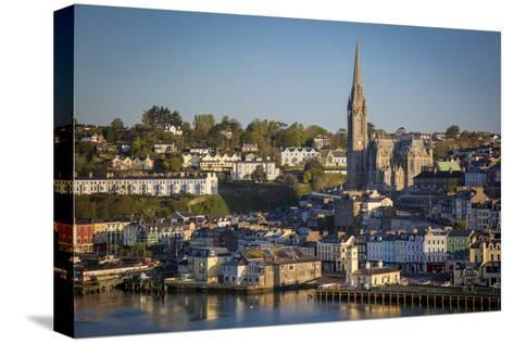 St. Coleman Church and Harbor Town of Cobh, County Cork, Ireland-Brian Jannsen-Stretched Canvas Print