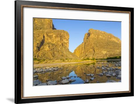 The Rio Grande River at Santa Elena Canyon, Big Bend NP, Texas, Usa-Chuck Haney-Framed Art Print