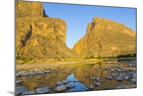 The Rio Grande River at Santa Elena Canyon, Big Bend NP, Texas, Usa-Chuck Haney-Mounted Photographic Print