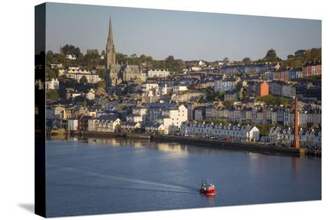 Fishing Boat Headed Out to Sea at Dawn, Cobh, County Cork, Ireland-Brian Jannsen-Stretched Canvas Print